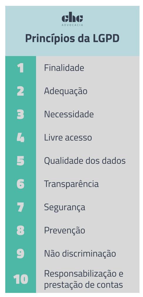 Os 10 princípios da LGPD