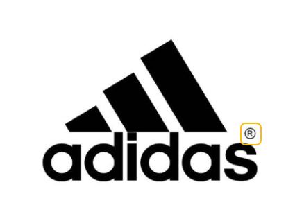 Lei de copyright e exemplo de elemento gráfico na logo da Adidas