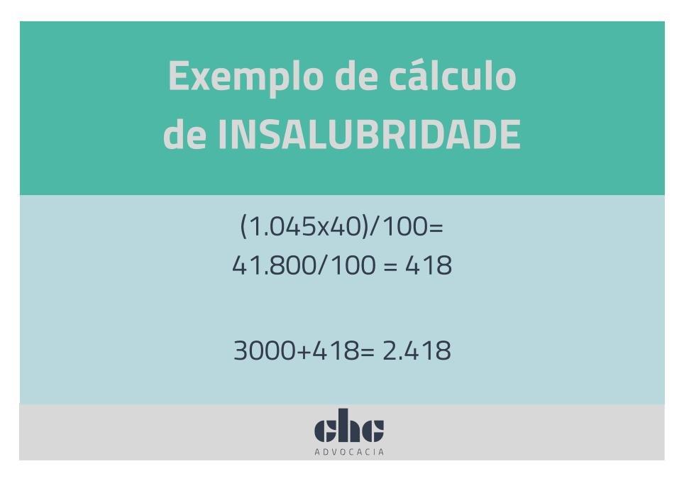 Adicional de periculosidade: exemplo de cálculo de insalubridade